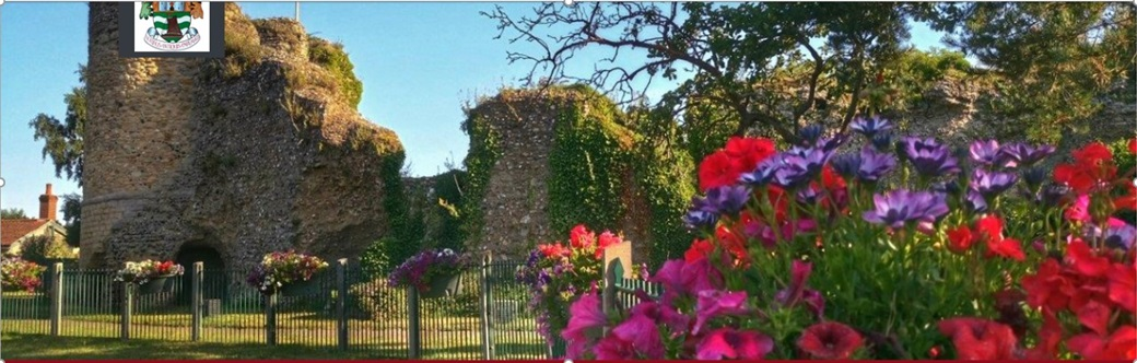 Bungay Castle in the summer